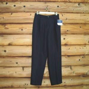 NWT Vintage 90s Black High Rise Dress Pants